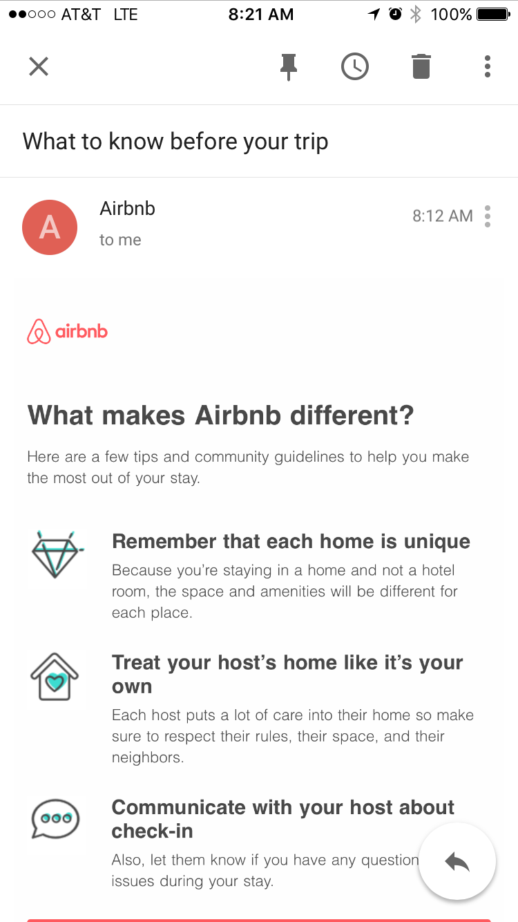 Finally Airbnb proactively educating guests / expectations - We are